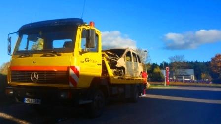 Sudegusių automobilių transpotavimas