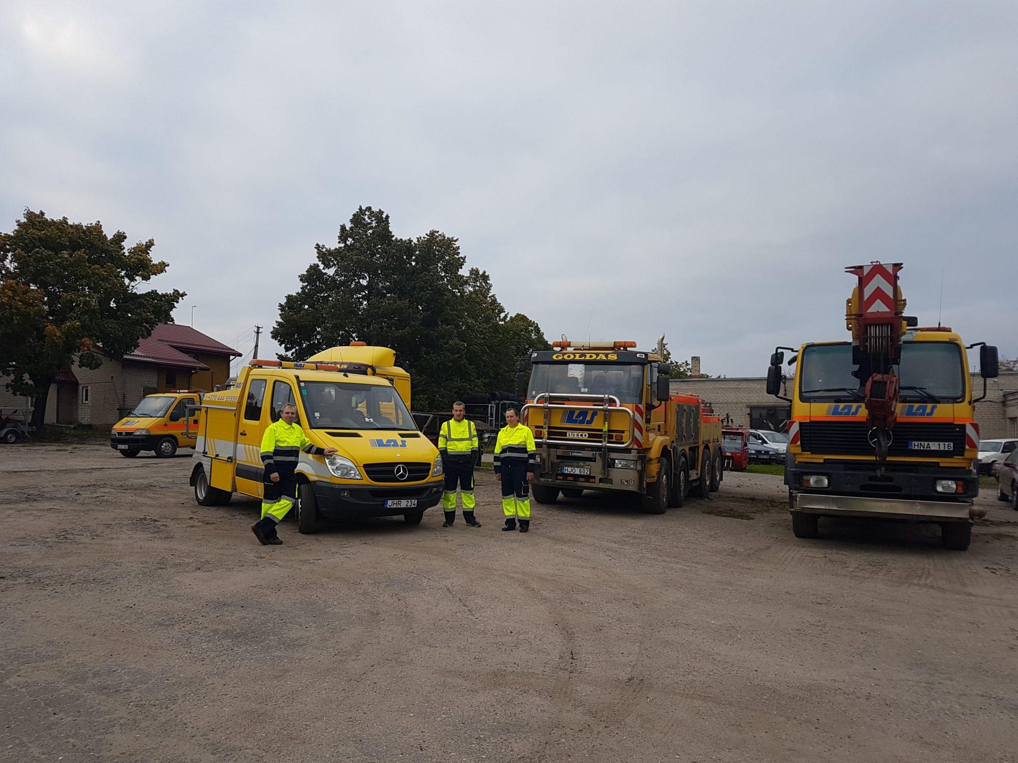 Techninės pagalbos kelyje mokymai varžybos Road Patrol